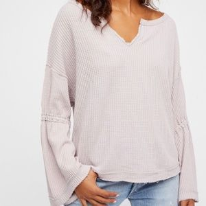 Free People Dahlia Thermal Knit Top  S
